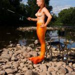 Outdoor: angelnde Meerjungfrau